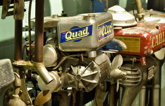 Boothbay, ME: More than 200 early outboards are on display in our recently renovated engine exhibit.
