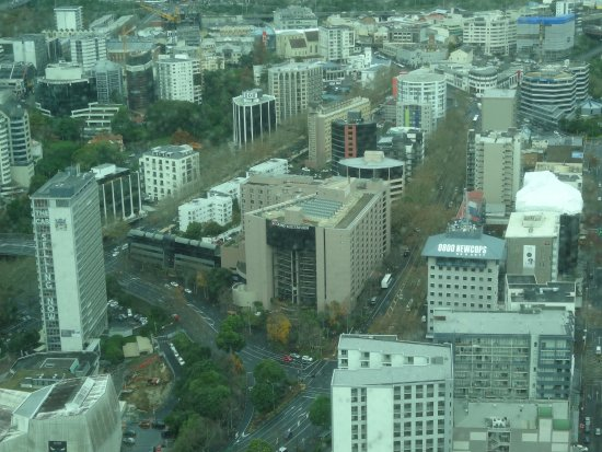 Grand Millennium Auckland: Hotel as seen from the Sky Tower