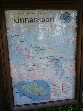 Rantasalmi, ฟินแลนด์: Plan du parc national Linnansaari