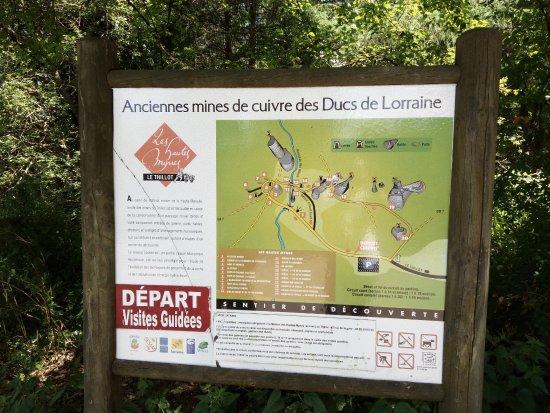 Le Thillot, Франция: Panneau explicatif sur le parking en attendant le guide