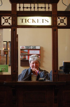 The ticket counter at the East Troy Railroad