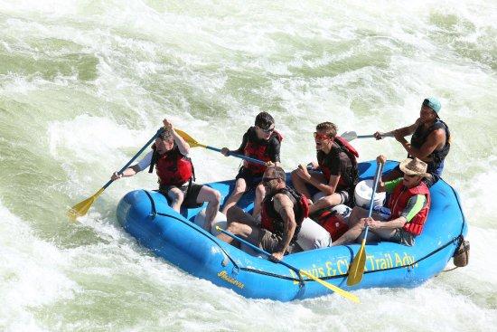 Missoula, MT: Going through a rapid.