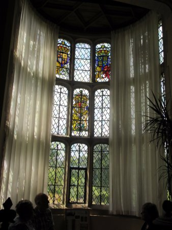 Lapworth, UK : Stain glass in Long Room