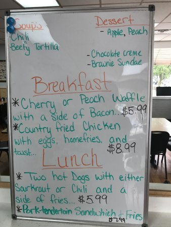 Mount Gilead, OH: Today's specials when you walk in