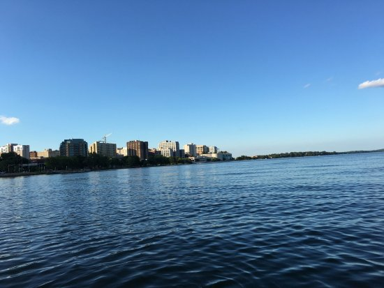 view facing Madison on Lake Monona
