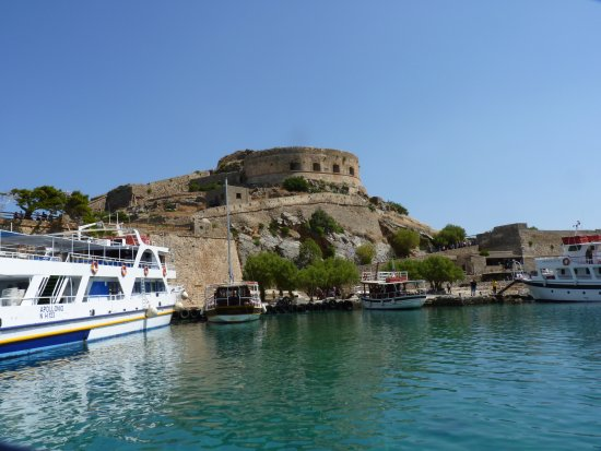 เอเลาน์ดา, กรีซ: Approche de l'ile de Spinalonga