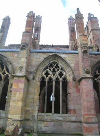 Melrose, UK: Turrets and towers
