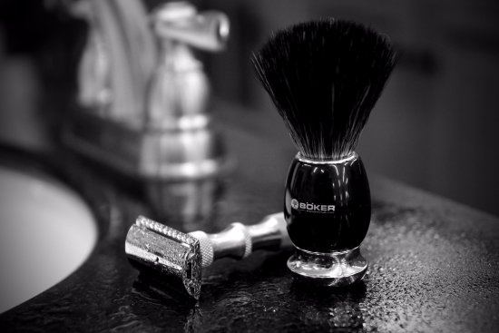 Adrian, MI: DE Safety Razors and shaving brushes.
