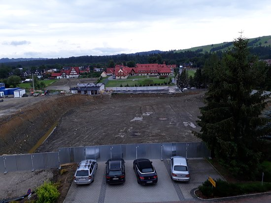 Bialka Tatrzanska, Polen: Baustelle vor dem Hotel