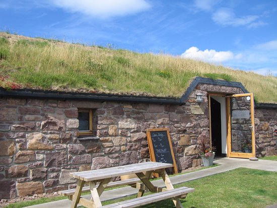 Gairloch, UK: BARN CAFE WITH LOVELY ROOF