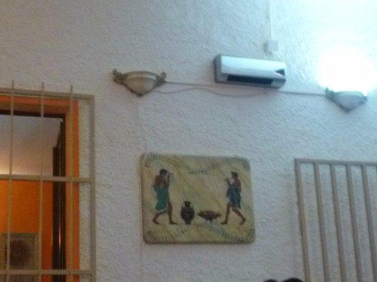 Gavorrano, Italia: affresco appeso in ingresso