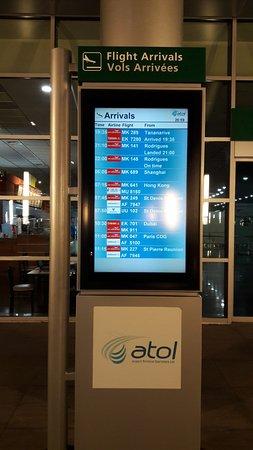 Mahebourg: Sir Seewoosagur Ramgoolam International Airport..Arrivals schedule