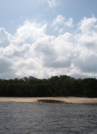 Fernandina Beach, فلوريدا: old ballast stones left on the shore