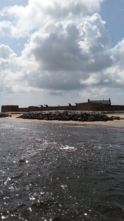 Fernandina Beach, فلوريدا: civil war era fort north side of Amelia Island
