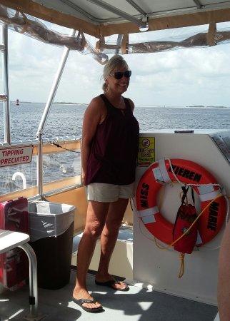 Fernandina Beach, FL: Kevin's wife and first mate Cecilia