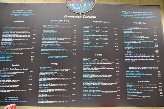 Cowichan Bay, كندا: menu board