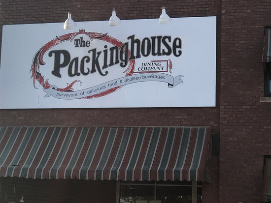 Galesburg, IL: The logo of the Packinghouse restaurant