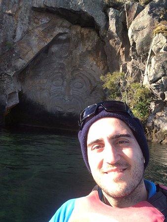 Taupo, Nueva Zelanda: Rock carvings
