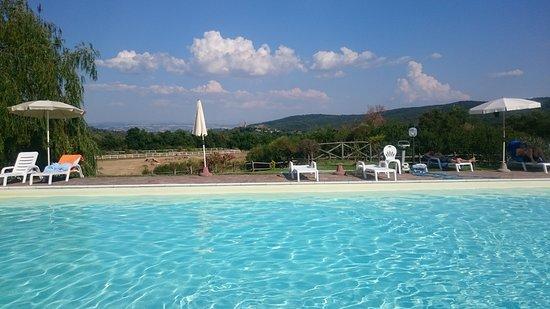 Murlo, Italy: Die Aussicht vom Pool - unbezahlbar