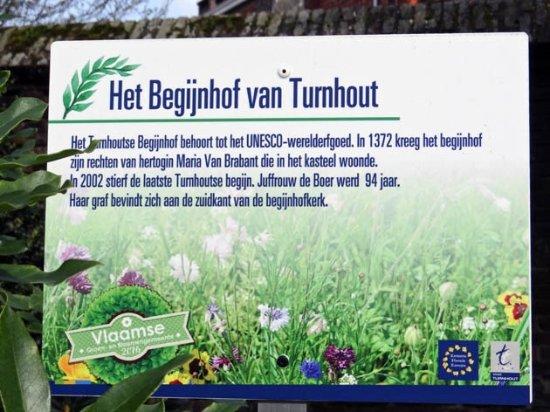 Turnhout, Belçika: information board