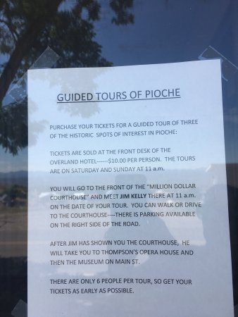 Pioche, Невада: Tours available Sat/Sun only. We were bummed to miss this (visiting on a Friday).