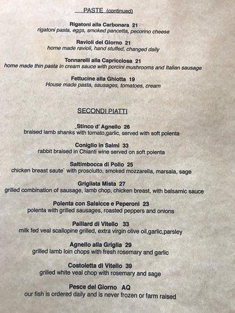 Ristorante Milano : Not quite random, Torta Caprese, bite of food, Roman  Style veal scalloping, sea food pasta (the