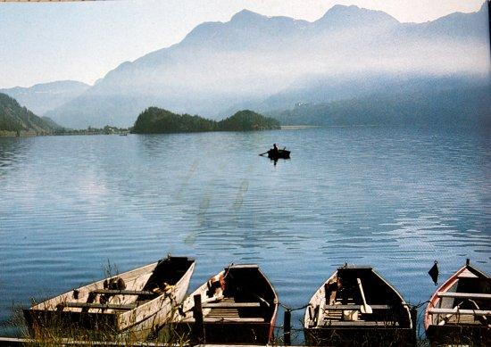 Sils im Engadin, Swiss: Silser See von Plaun da Lej aus