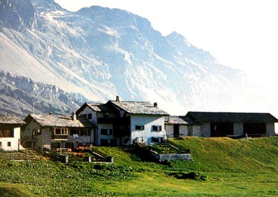 """Sils im Engadin, Swiss: der Weiler """"Grevasalvas"""""""