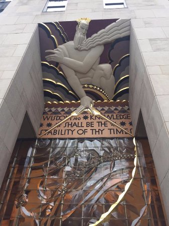 Rockefeller Center Tour: Entrance to 30 Rockefeller Center from the Plaza