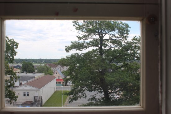 Miramichi, Canada: View from Beaverbrook's Childhood room, overlooking the former town of Newcastle.