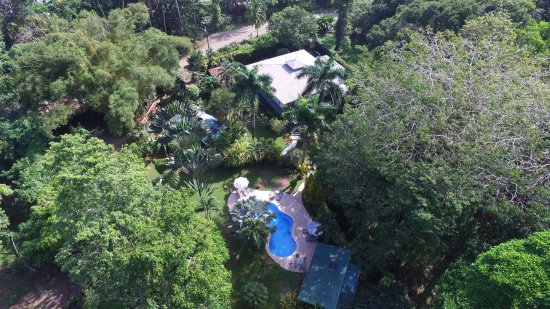 Playa Negra Guesthouse: From the sky