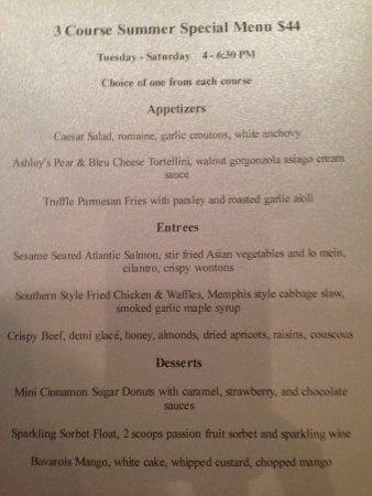 Tequesta, FL: Summer menu