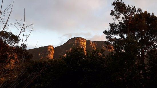 Bishopscourt, Sydafrika: Schitterend uitzicht op de Tafelberg vanaf het balkom