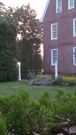 Exeter, NH: Sunset on the patio