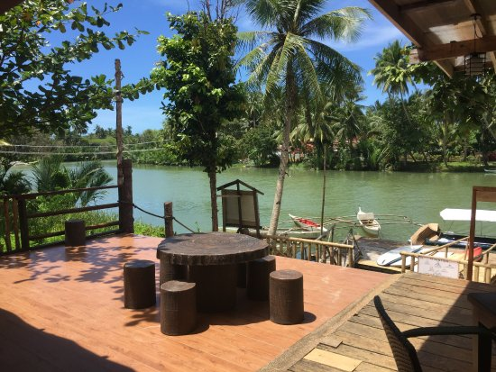 Loboc River Resort: The view from the restaurant