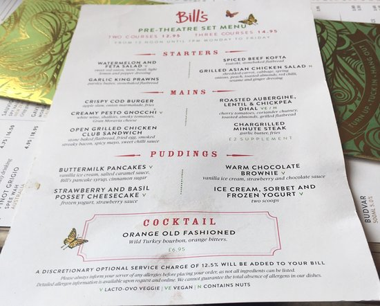 Bill S Restaurant London Hammersmith