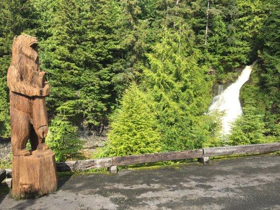 Salmon Falls Resort: Walking down to the docks