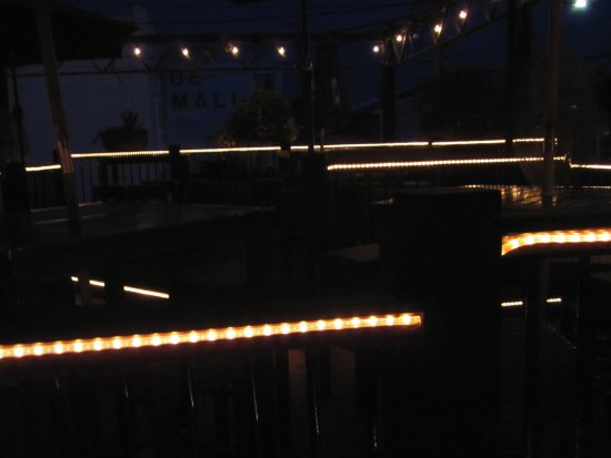 Prescott, WI: Deck at night