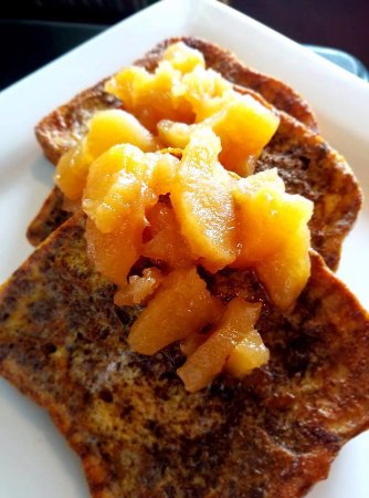 State College, PA: Apple French Toast from our brunch menu.