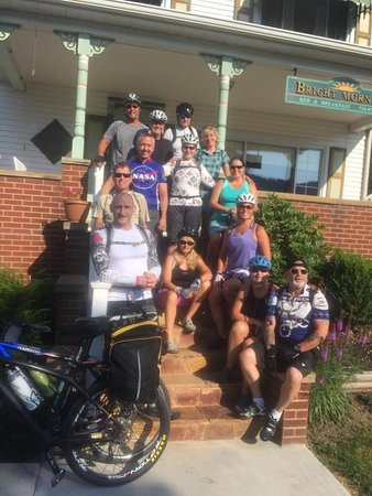 West Newton, PA: Our GAP riders group saying good-bye.