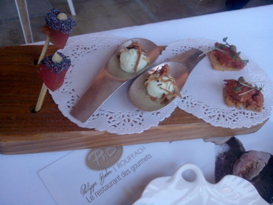Rouffach, France: amuse bouches