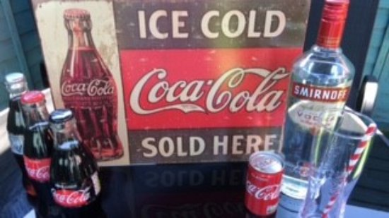Cwmbran, UK: Enjoy a glass of Coca Cola, Diet Coke or Coke Zero- why not relax in the Tea Garden.