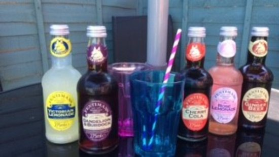 Cwmbran, UK: Trios stock a selection of traditional drinks by Fentimens- Dandelion & Burdock, Ginger Beer & m
