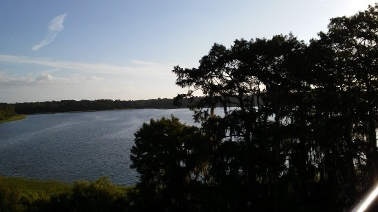 Bay Lake Tower at Disney's Contemporary Resort: View from standard view room 7412 looking right
