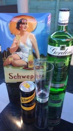 Cwmbran, UK: Enjoy a cool Gin and Tonic!