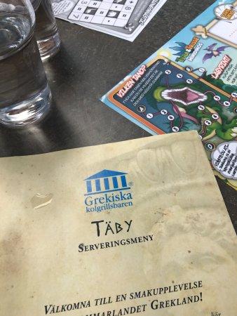 Taby, Szwecja: Pyssel till barnen och klassisk grekisk mat a la Sverige (?)