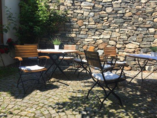 Senftenberg, Austria: terrace