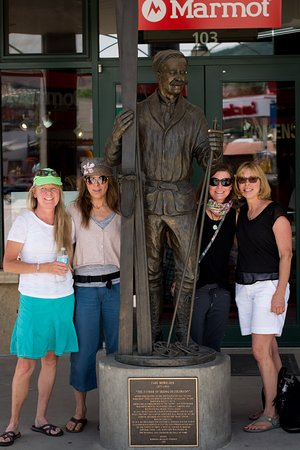 Steamboat Springs, CO: Food Tour friends with Carl Howelsen, a Steamboat Icon.