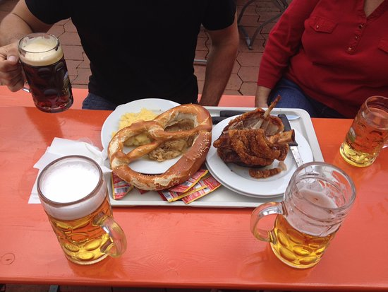 Kloster Andechs: Pig Knuckle, pretzel and the most amazing beer.