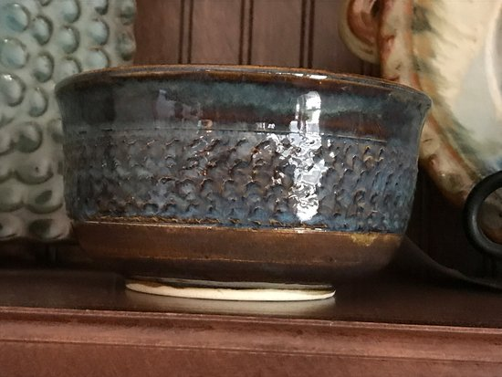 Bowl made by local Natchez potter